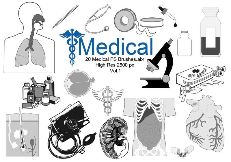 20 Medical PS Brushes.abr Vol.1 Photoshop brush