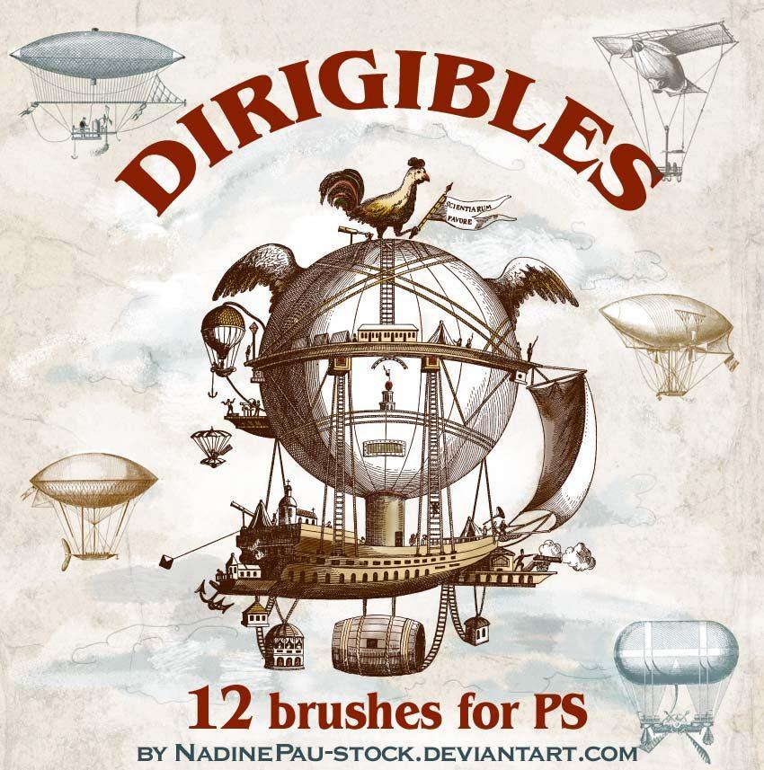 Dirigibles Photoshop brush
