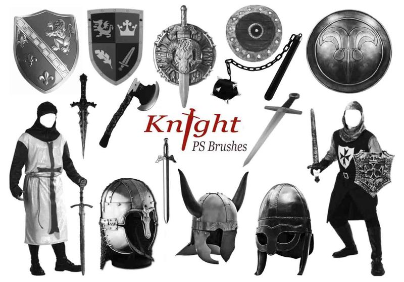 20 Knight PS Brushes abr.vol.5 Photoshop brush
