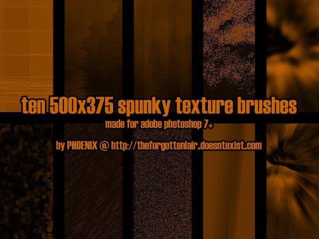10 Spunky Texture Brush Photoshop brush