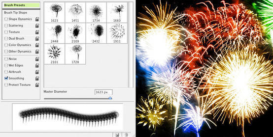 10 Fireworks Brushes Photoshop brush