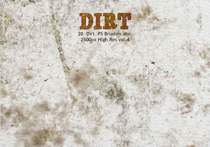 20 Dirt PS Brushes abr vol 4 Photoshop brush