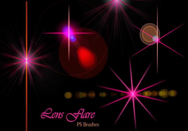 20 Lens Flares PS Brushes abr vol.12 Photoshop brush