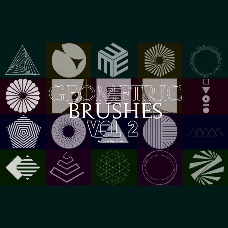 20 Free Geometric Photoshop Brushes Photoshop brush
