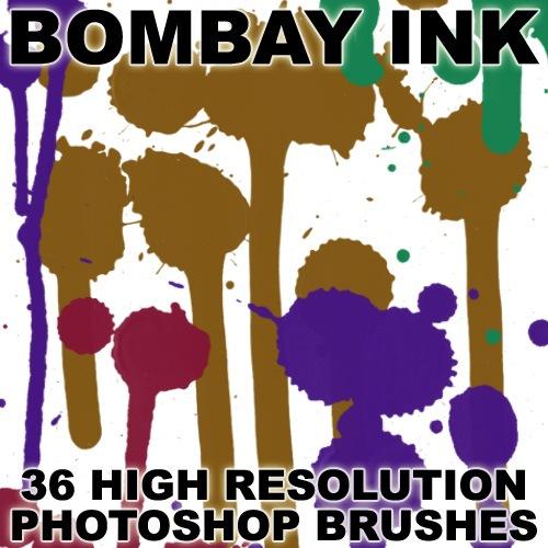 Bombay Ink Photoshop brush