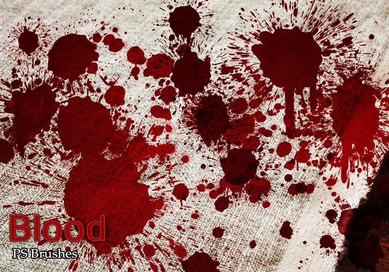 20 Blood Splatter PS Brushes abr vol.5 Photoshop brush