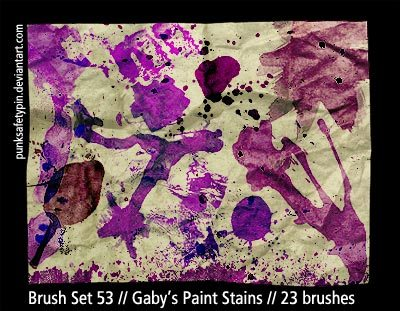 Gaby's Paint Stains Photoshop brush