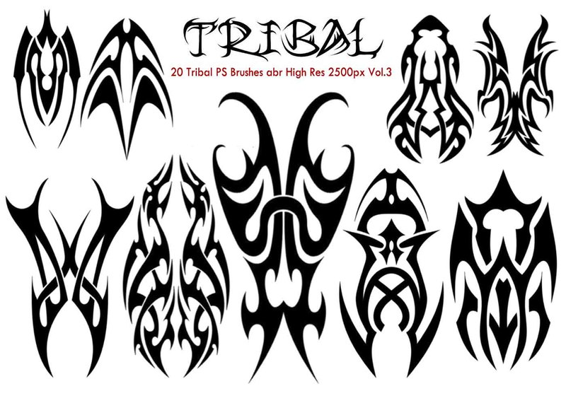 Tribal PS Brushes abr Photoshop brush