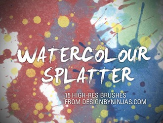 Watercolour Splatter Photoshop brush