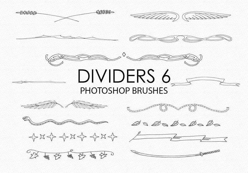 Free Hand Drawn Dividers Photoshop Brushes 6 Photoshop brush