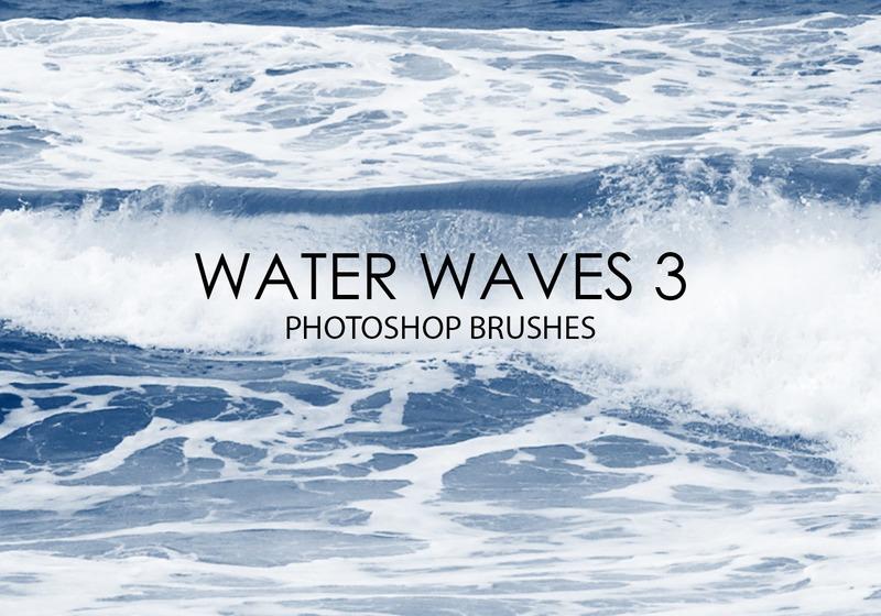 Free Water Waves Photoshop Brushes 3 Photoshop brush