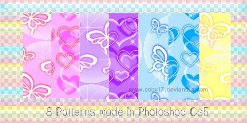 Butterflies and Hearts Photoshop brush