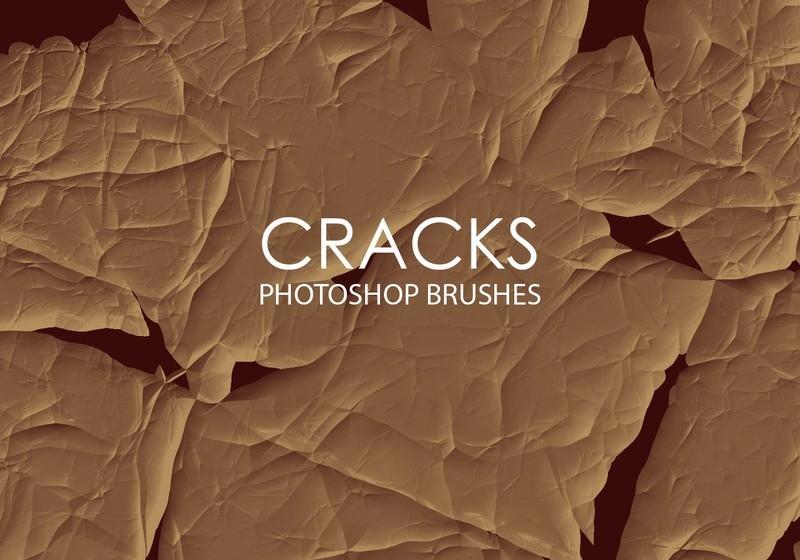 Free Abstract Cracks Photoshop Brushes Photoshop brush