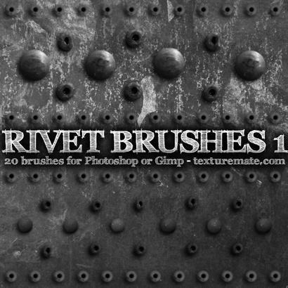 Rivet 1 Brushes from texturemate.com Photoshop brush