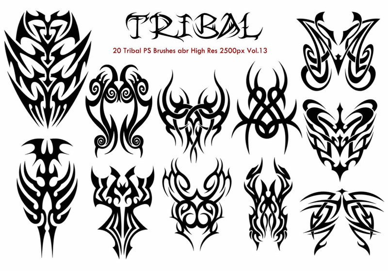 Tribal PS Brushes Vol.13 Photoshop brush