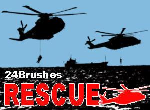24 Rescue Helicopter Brushes Photoshop brush