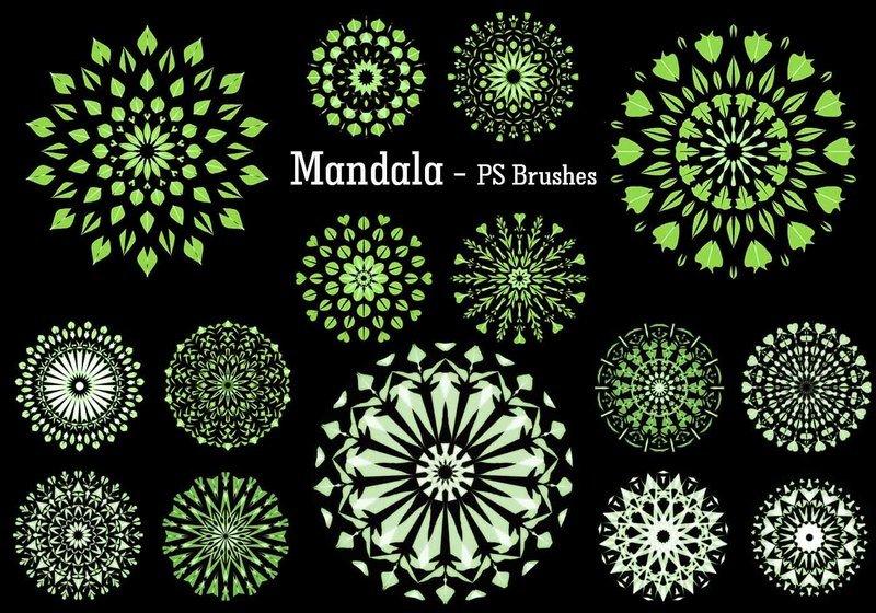 20 Mandala PS Brushes abr. vol.9 Photoshop brush