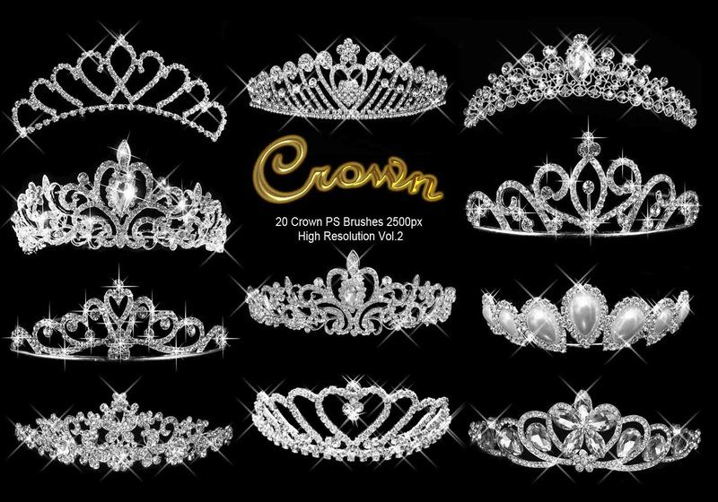 20 Crown PS Brushes abr.Vol.2 Photoshop brush