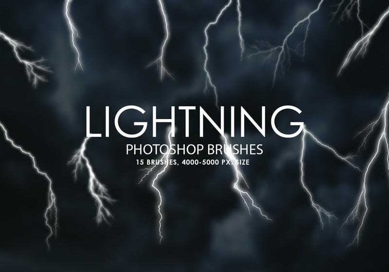 Free Lightning Photoshop Brushes Photoshop brush