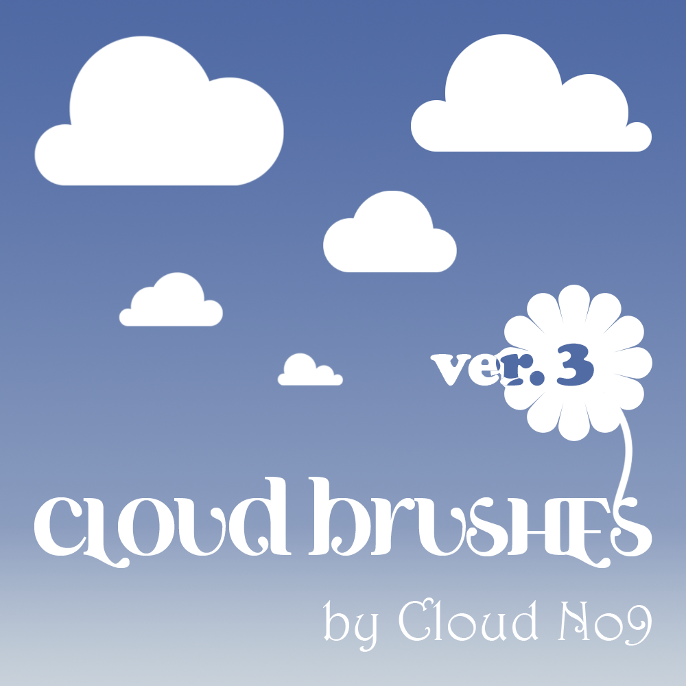 Cloud Brushes ver.3 Photoshop brush
