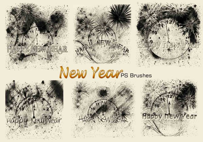 20 New Year PS Brushes abr. Vol.4 Photoshop brush