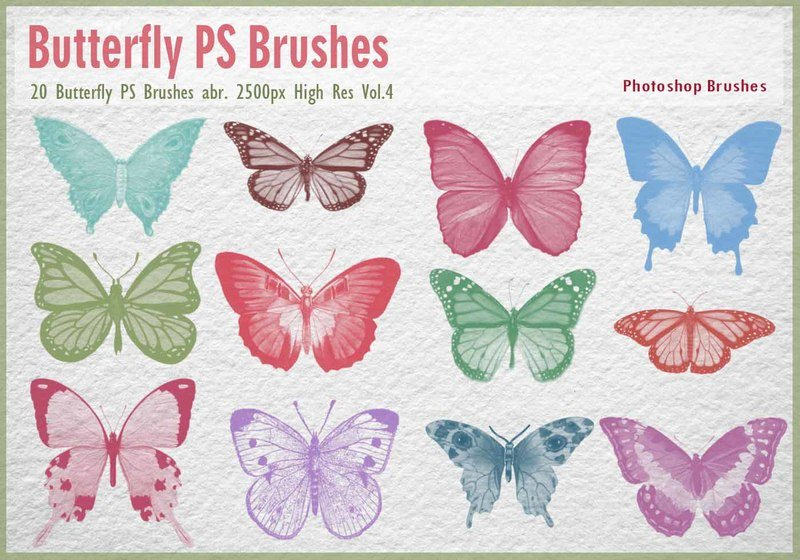 Butterfly PS Brushes abr.  Photoshop brush