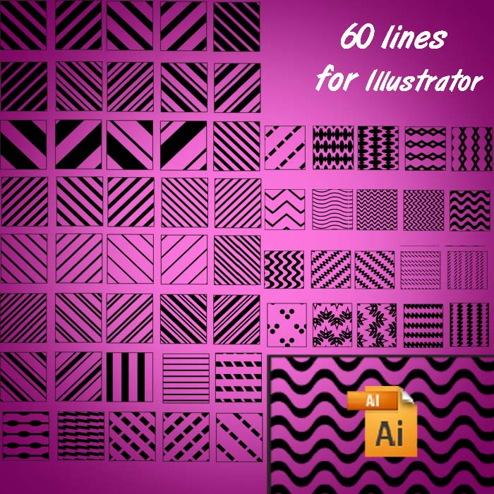 60 lines for Illustrator Photoshop brush