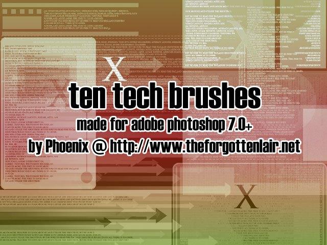 Tech Brushes Photoshop brush