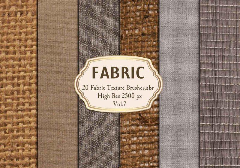 20 Fabric Texture Brushes Vol.7 Photoshop brush