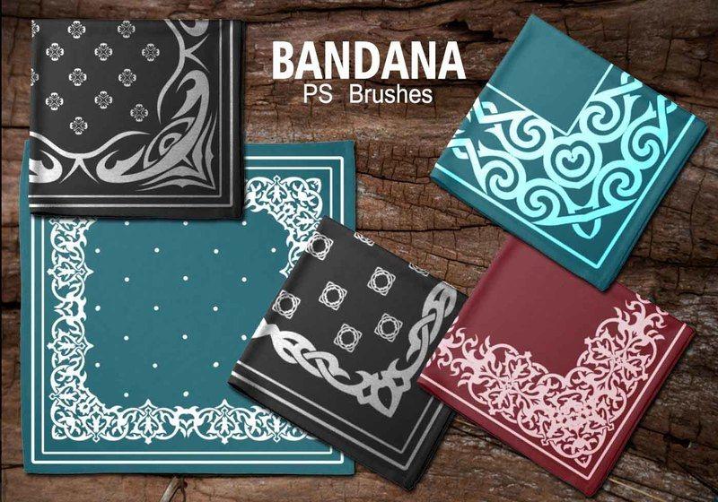 20 Bandana PS Brushes.abr vol.6 Photoshop brush
