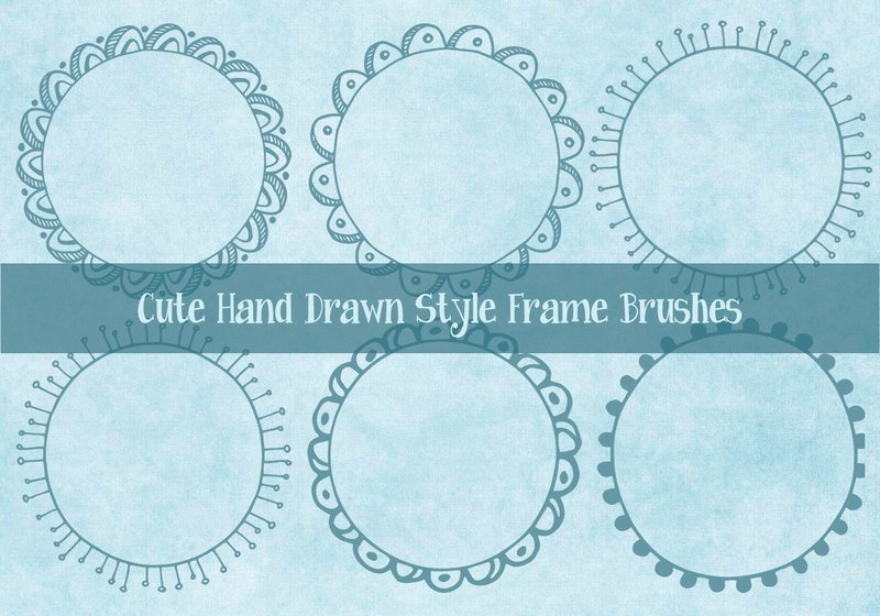 Cute Hand Drawn Sketchy Frame Brushes Photoshop brush
