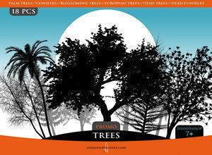 """""""Trees"""" Promo Brush Pack Photoshop brush"""