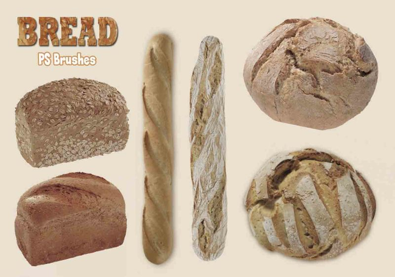 20 Bread PS Brushes.abr Photoshop brush