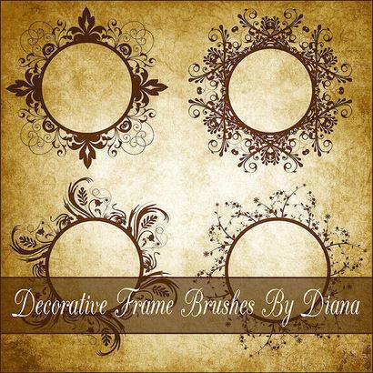 Decorative Swirl Frame Brushes Photoshop brush