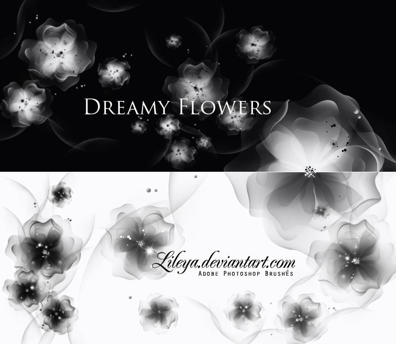 Dreamy Flowers Photoshop brush