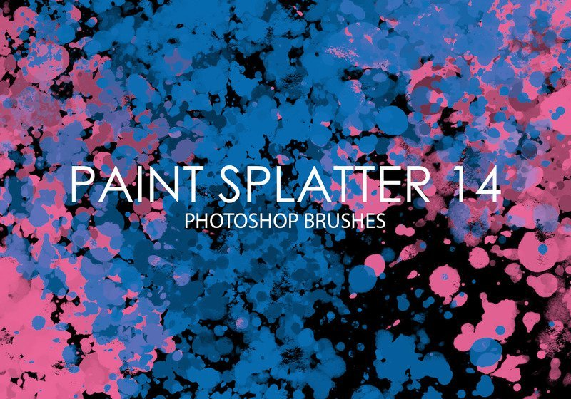 Free Paint Splatter Photoshop Brushes 14 Photoshop brush