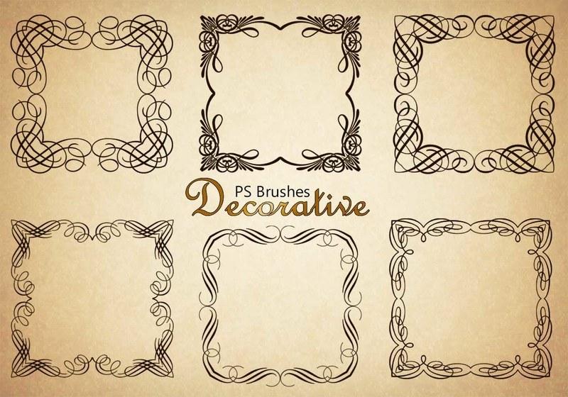 20 Decorative Border PS Brushes abr. Vol.4 Photoshop brush