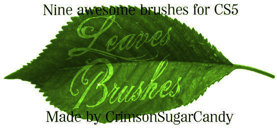 Summer Leaves Photoshop brush