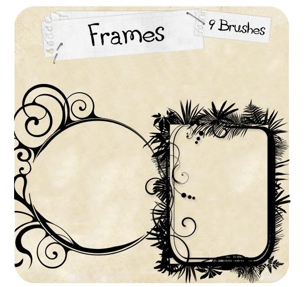 Frames Photoshop brush
