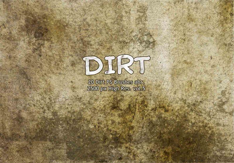 20 Dirt PS Brushes abr vol.5 Photoshop brush