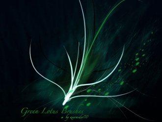 Green Lotus Photoshop brush