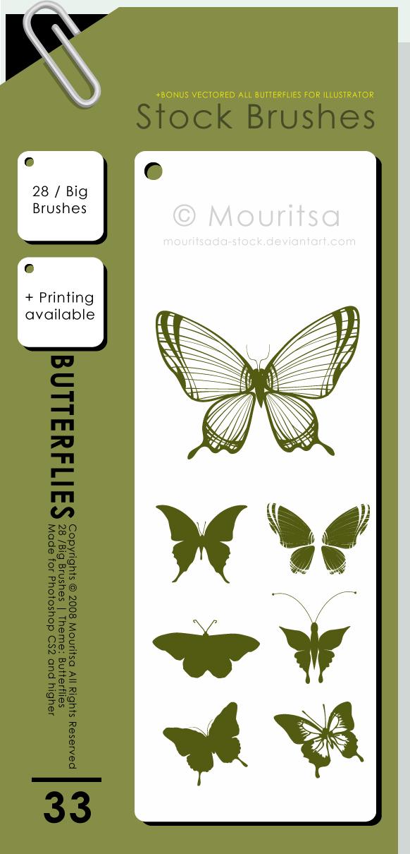 Butterflies Photoshop brush