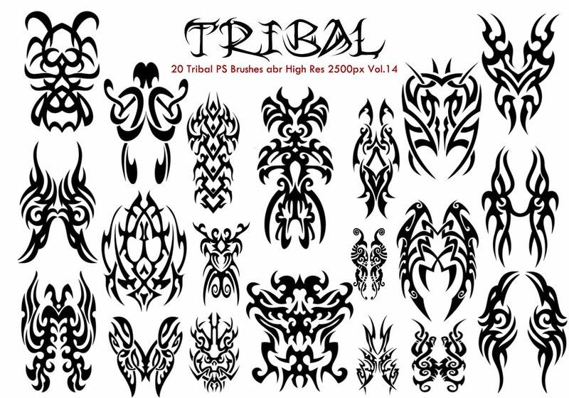 20 Tribal PS Brushes Vol.14 Photoshop brush