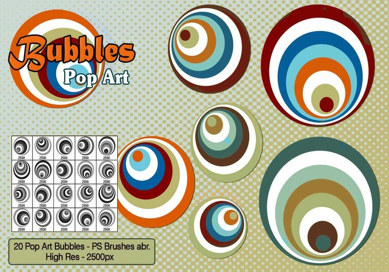 Pop Art Bubbles PS Brushes Photoshop brush