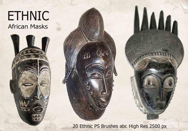 20 Ethnic PS Brushes abr. Photoshop brush