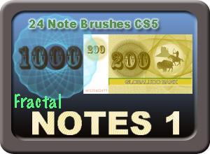 24 Fractal Brushes Notes 1 Photoshop brush