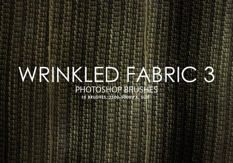 Free Wrinkled Fabric Photoshop Brushes 3 Photoshop brush