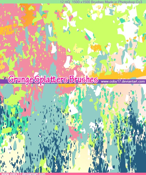 Grunge Splatters Photoshop brush