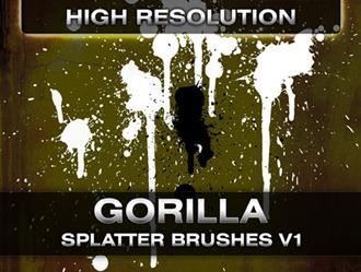 Gorilla Splatter Brushes Photoshop brush
