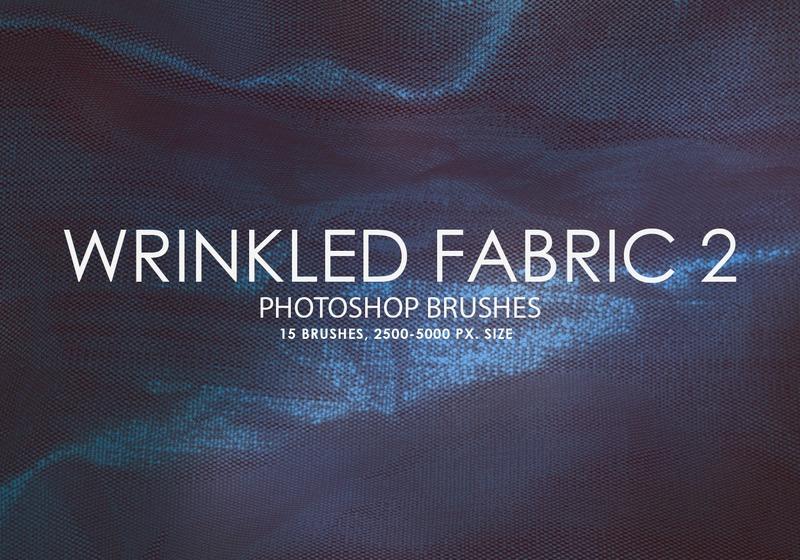 Free Wrinkled Fabric Photoshop Brushes 2 Photoshop brush